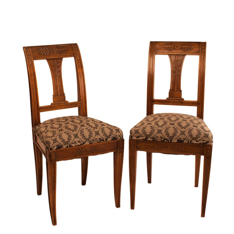 Pair of Neoclassical Style Side Chairs, France, circa 1880