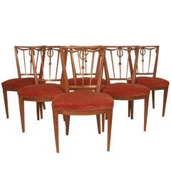Set of 6 Dining Chairs, Belgium, circa 1800