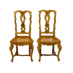 Pair of Venetian Painted Side Chairs, circa 1880