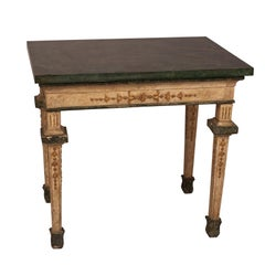 Neoclassical Painted Side Table, Italy 19th Century