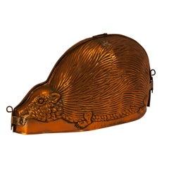 Copper Hedgehog Mold, England, circa 1860