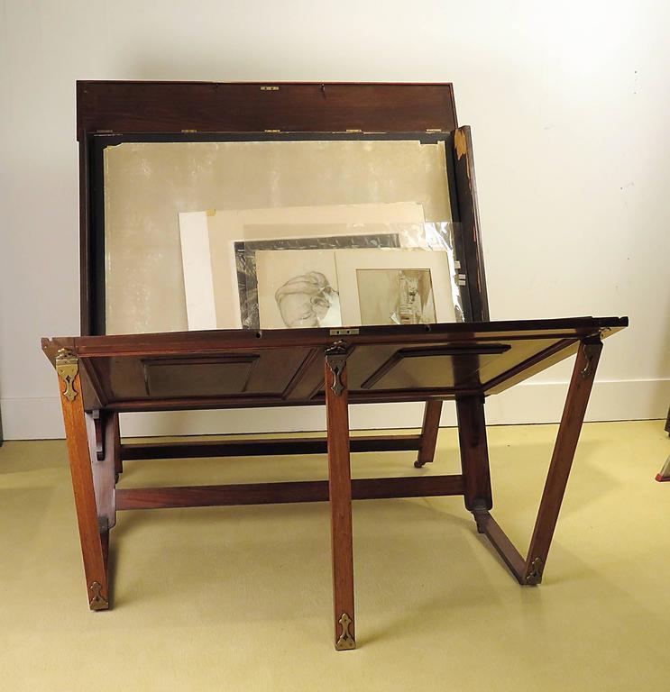Rare English Victorian Folio Stand, circa 1880 2