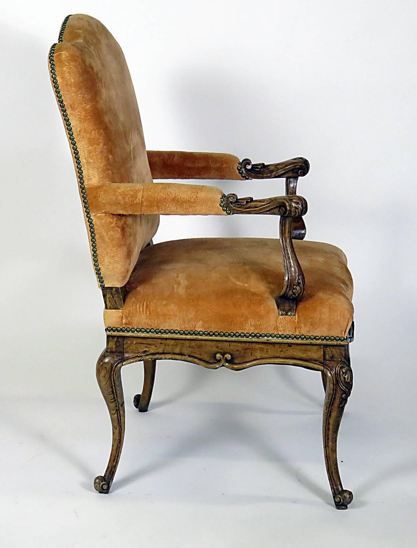 Ten Italian Rococo Walnut Dining Chairs Circa 1750 At 1stdibs