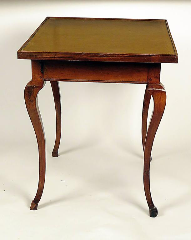 Italian Leather Top Writing Table, circa 1870 In Good Condition For Sale In San Francisco, CA