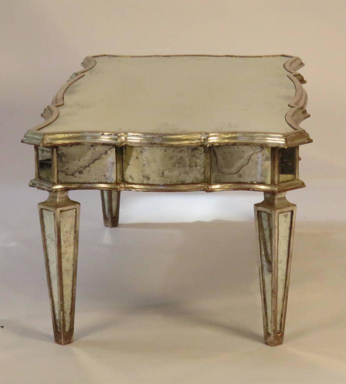 Vintage Mirrored Coffee Table At 1stdibs