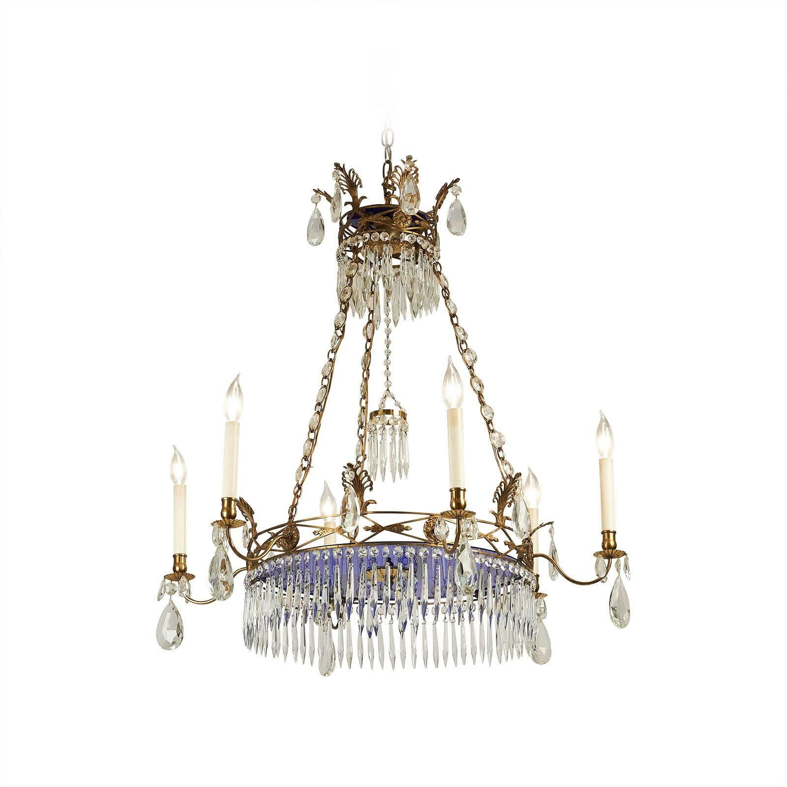 Russian Crystal Chandelier circa 1880 at
