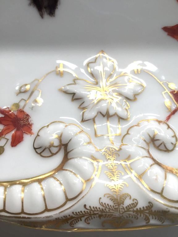 Gilt Charles Field Haviland Limoges Hand-Painted Platter with 14-Karat Gold Accents For Sale