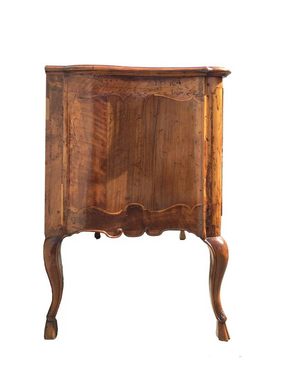 Early 18th Century Italian Rococo Walnut Two-Drawer Commode with Cabriole Legs 9