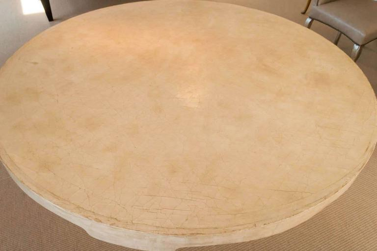 Glazed Beautiful Candace Barnes Moroccan Inspired Round Center Table For Sale