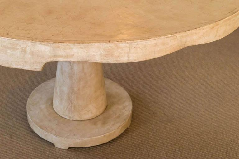 American Beautiful Candace Barnes Moroccan Inspired Round Center Table For Sale