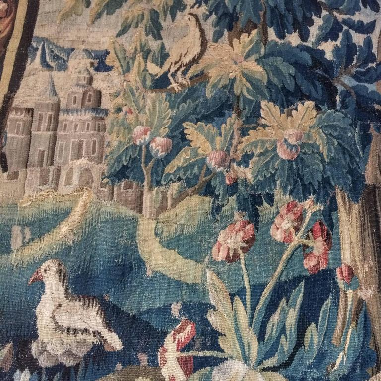 Hand-Woven Large 18th Century French Aubusson Tapestry For Sale