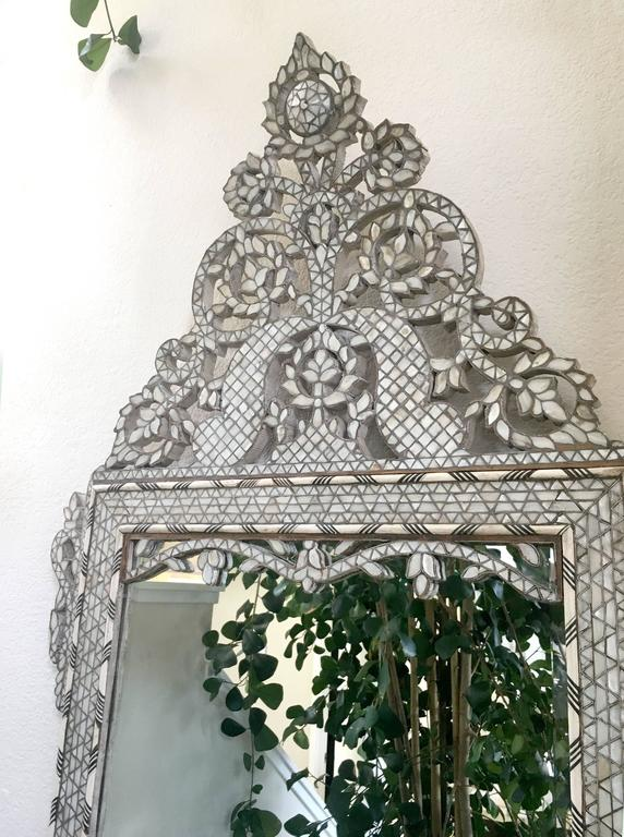 Late 19th Century Moroccan Bone Inlaid Mirror For Sale 6