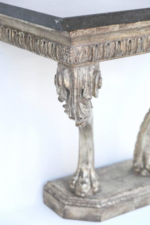 Silver Leaf Mid-18th Century Beautiful Period Hand Carved George II Console For Sale