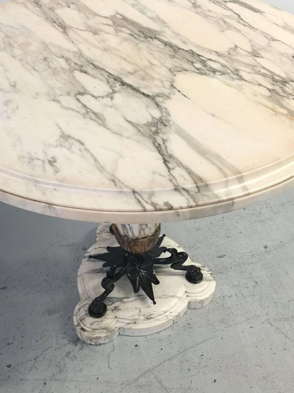 Mid-19th Century Highly Figural Marble and Bronze Table 7