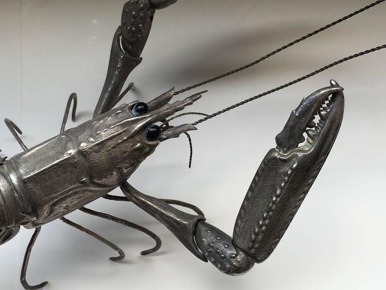Mid-Century Sterling Sculpture of a Tiger Prawn 4