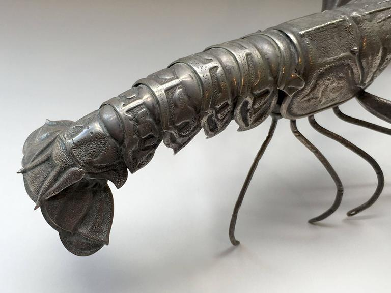 Mid-Century Sterling Sculpture of a Tiger Prawn 5