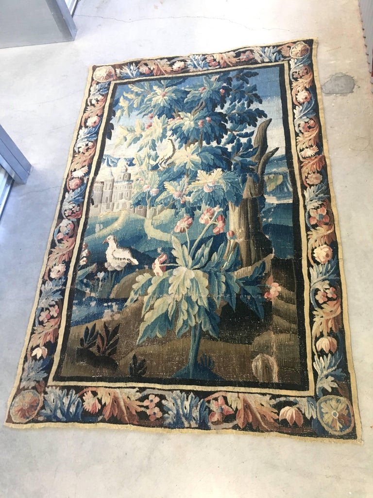 Large 18th Century French Aubusson Tapestry 6