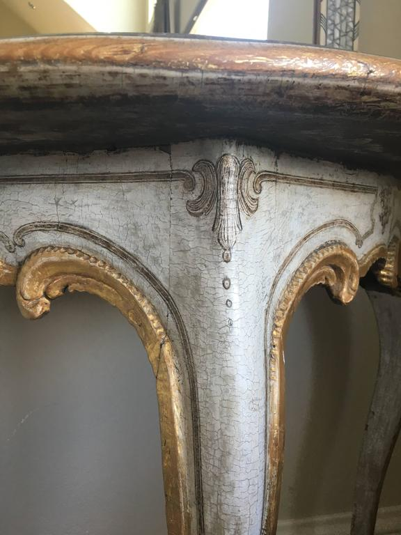 Italian Original Venetian Rococo Period Wall-Mounted Console For Sale