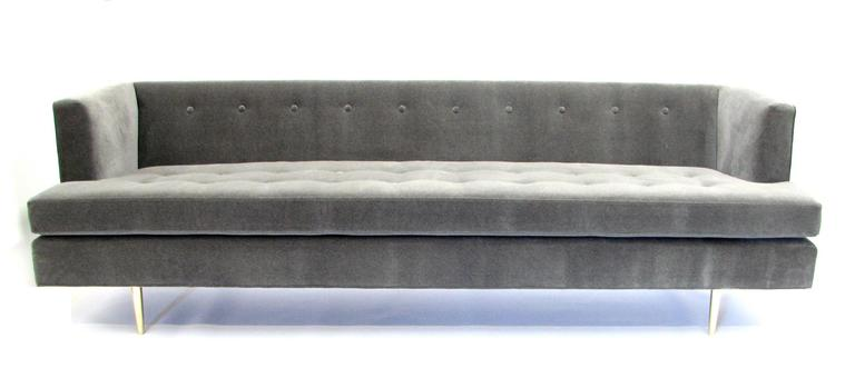 Stunning Mid-Century Dunbar Sofa by Edward Wormley in New Fabric In Excellent Condition For Sale In Portland, OR