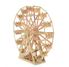 "Monumental 43"" Orange Crate Ferris Wheel Folk Art From Masonic Hall"