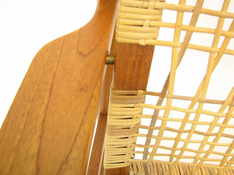 Danish Teak and Cane Rocking Chair by Hans Olsen for Brdr Juul-Kristensen 8