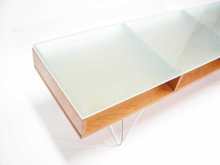 Post-Modern Glass Top Cocktail Table by Bobo Modern Living For Sale