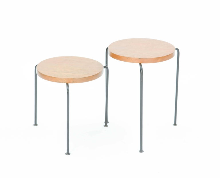 Set of Two Luther Conover Nesting Stools or Side Tables by Pacific Design Group 2