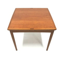 Mid-Century Reversible-Top Danish Teak Game Table in the manner of Poul Hundevad
