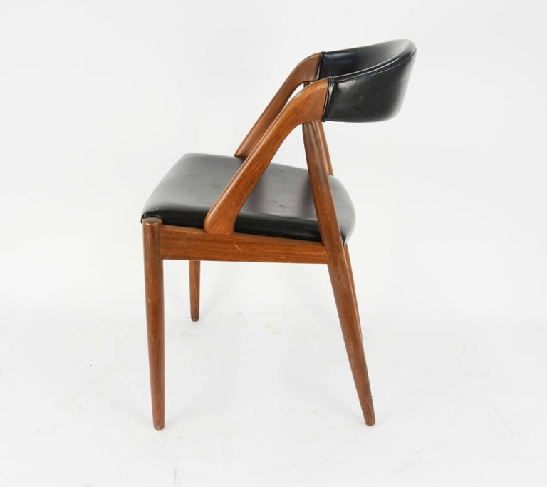 Set of Four Kai Kristiansen Model 31 Teak Dining Chairs with Leatherette 2