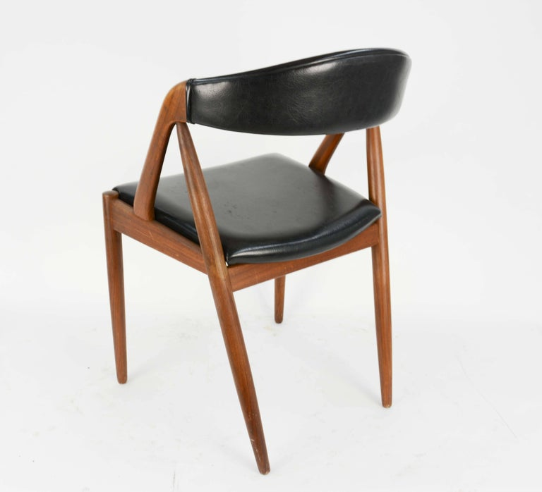 Set of Four Kai Kristiansen Model 31 Teak Dining Chairs with Leatherette 3