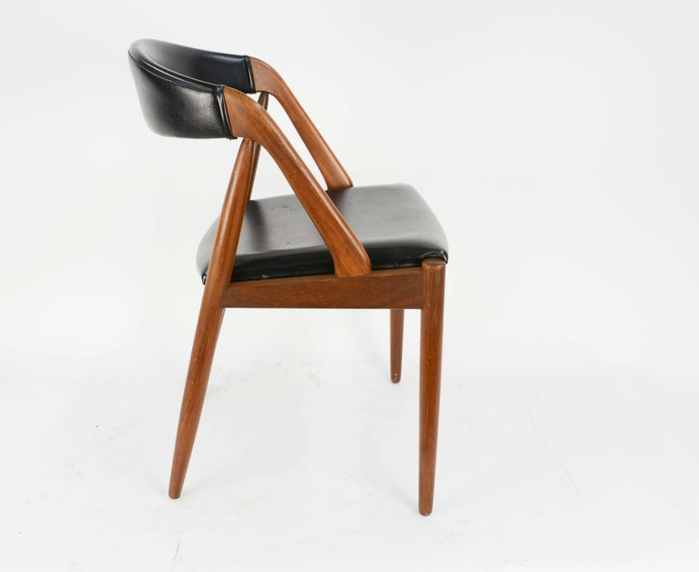 Set of Four Kai Kristiansen Model 31 Teak Dining Chairs with Leatherette 5