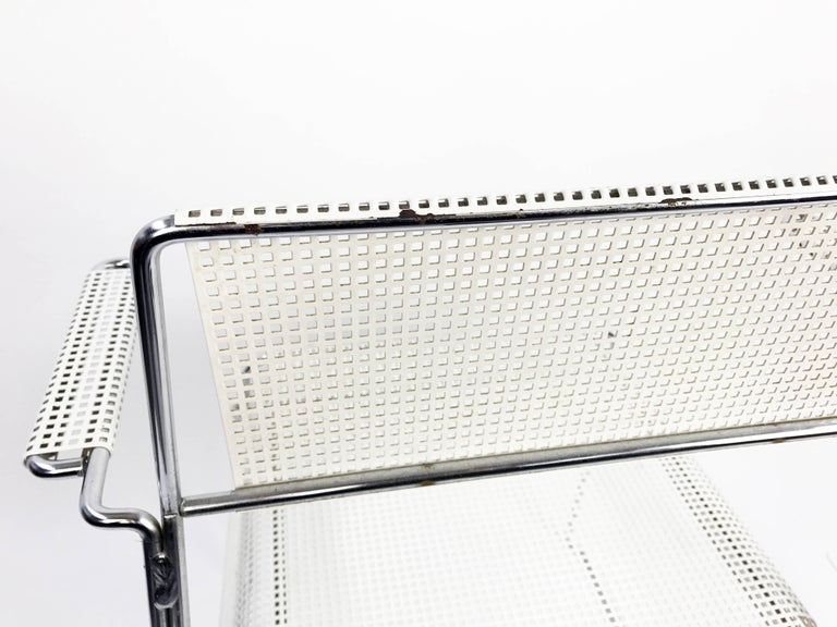 Mathieu Matégot Inspired Mid-Century Perforated Metal Armchair 6
