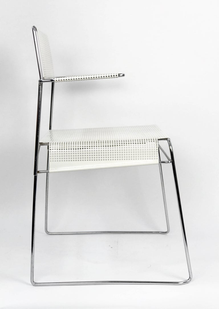 Mathieu Matégot Inspired Mid-Century Perforated Metal Armchair 3