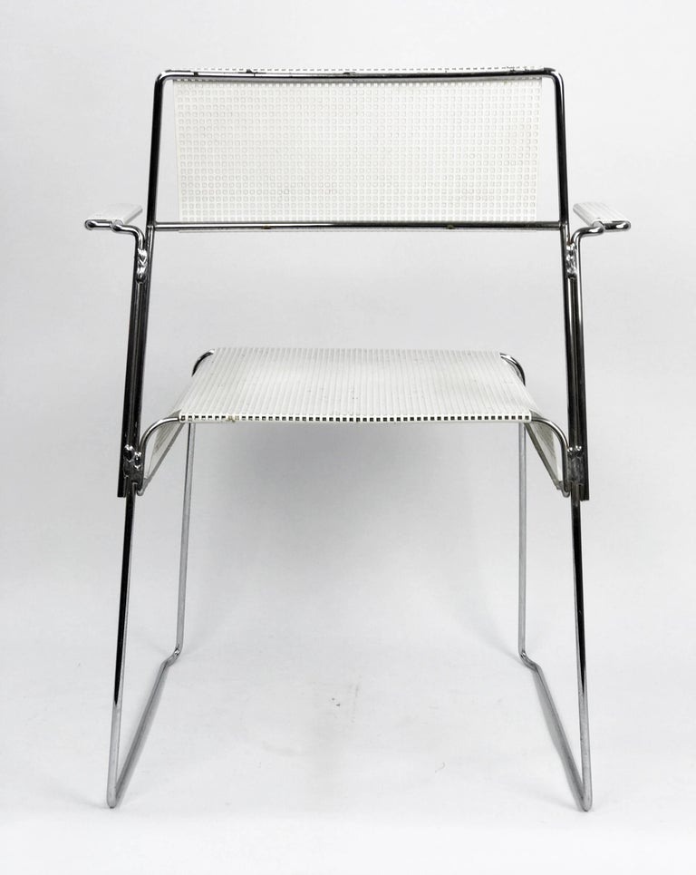 Mathieu Matégot Inspired Mid-Century Perforated Metal Armchair 5