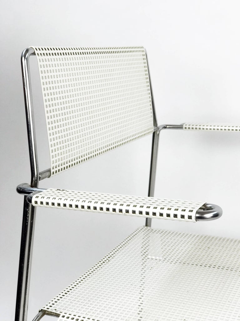 Mathieu Matégot Inspired Mid-Century Perforated Metal Armchair 4
