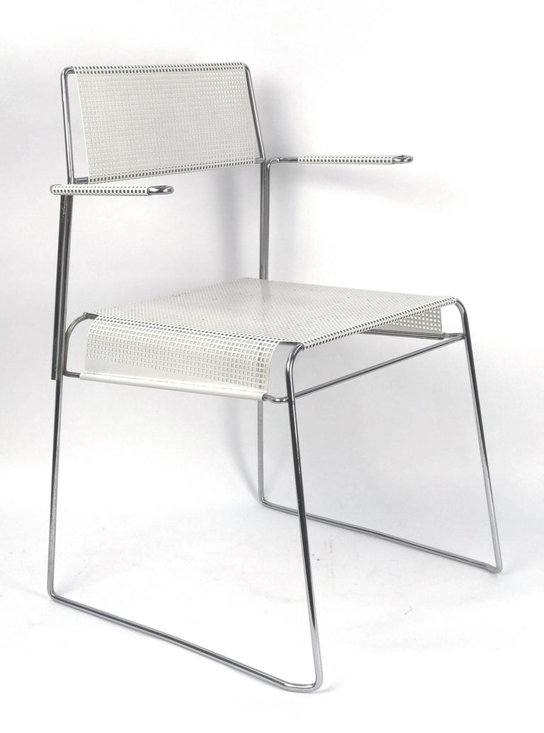 Mathieu Matégot Inspired Mid-Century Perforated Metal Armchair 2