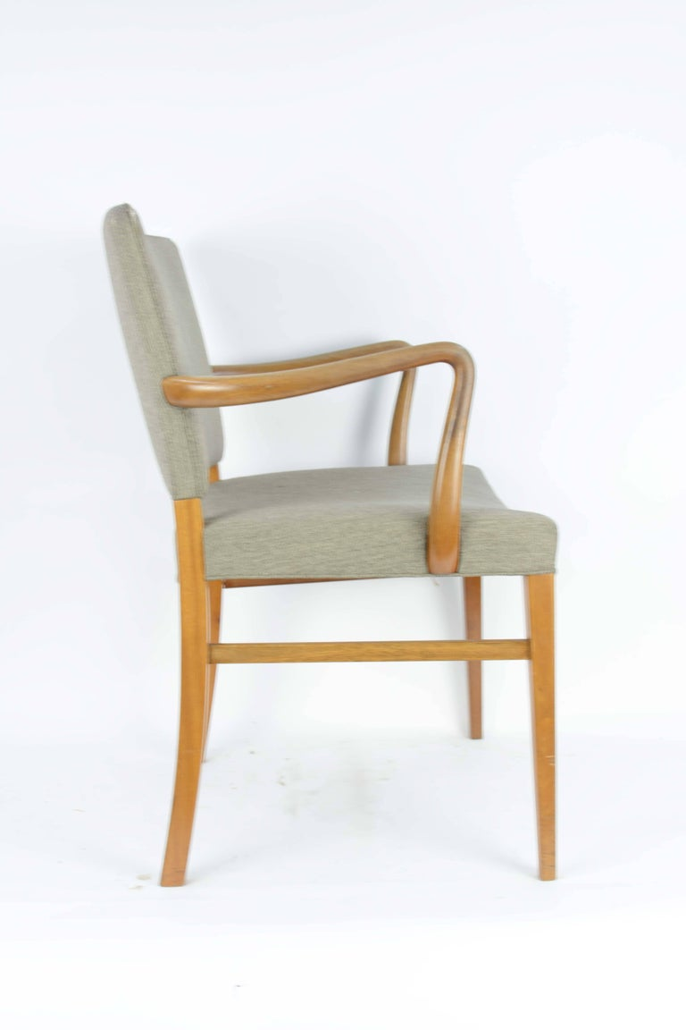 Danish Pair of Armchairs by Ole Wanscher for A. J. Iversen For Sale