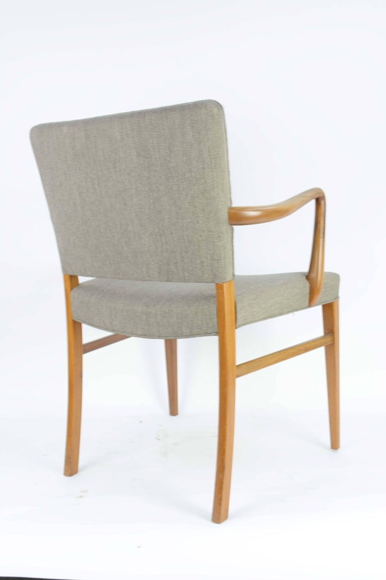 Pair of Armchairs by Ole Wanscher for A. J. Iversen In Good Condition For Sale In Portland, OR