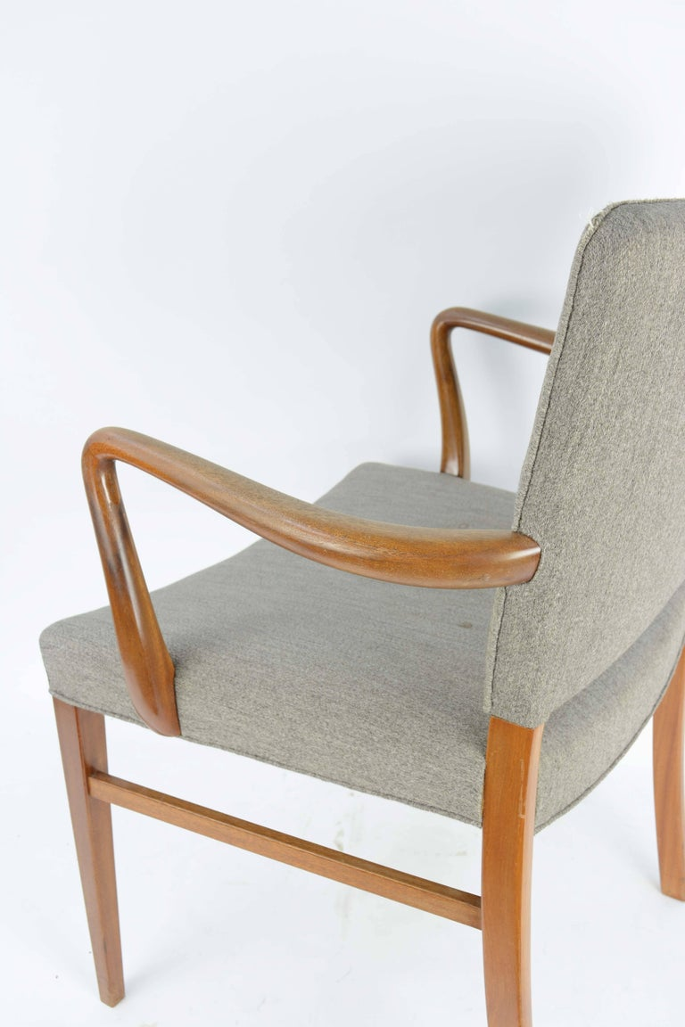 Pair of Armchairs by Ole Wanscher for A. J. Iversen For Sale 1