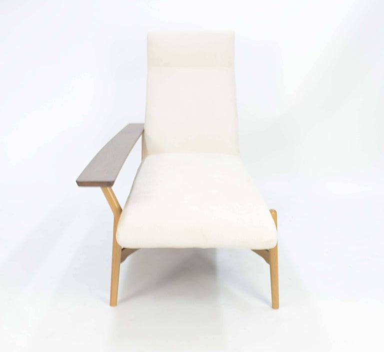Tateishi Shoiji Chaise Lounge in Oak and Walnut 2