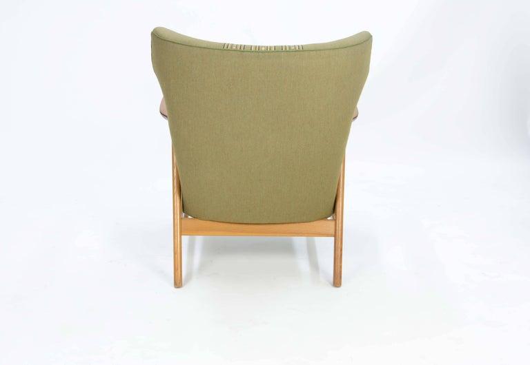 Pair of Kurt Olsen 3/5 Wingback Club Chairs in Teak 4