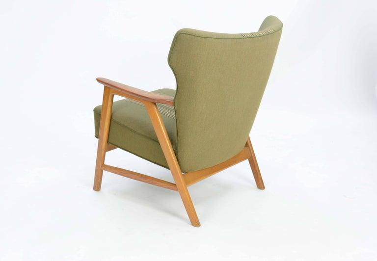 Pair of Kurt Olsen 3/5 Wingback Club Chairs in Teak 5