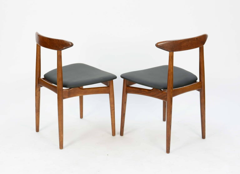 Mid-20th Century Set of Four Danish Teak Chairs after Hans Wegner For Sale