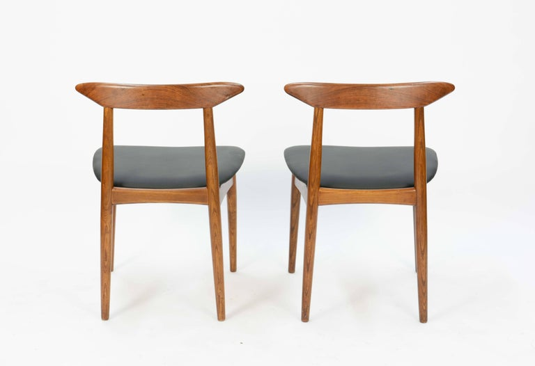 Set of Four Danish Teak Chairs after Hans Wegner For Sale 1