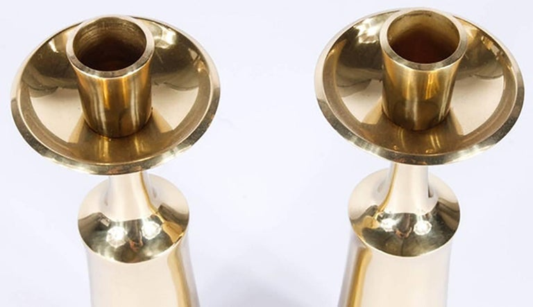 Pair of Dansk Solid Brass Candlesticks by Jens Quistgaard 2