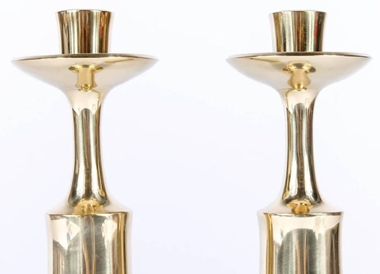 Pair of Dansk Solid Brass Candlesticks by Jens Quistgaard 7