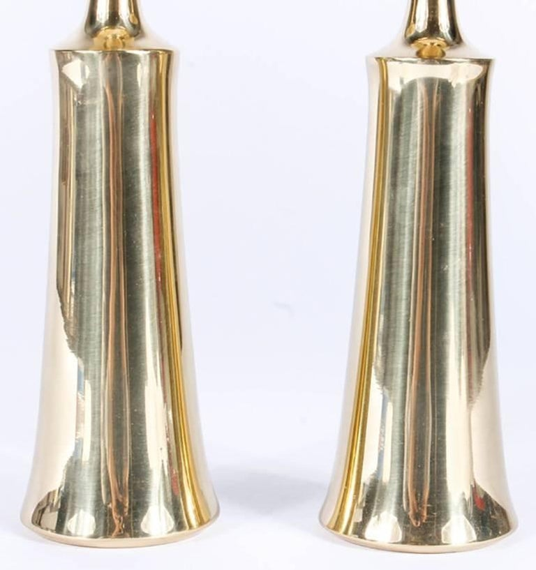 Pair of Dansk Solid Brass Candlesticks by Jens Quistgaard 8