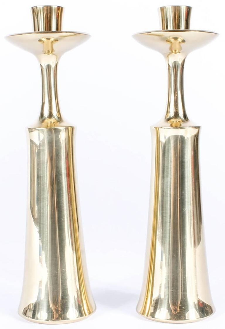 Pair of Dansk Solid Brass Candlesticks by Jens Quistgaard 5