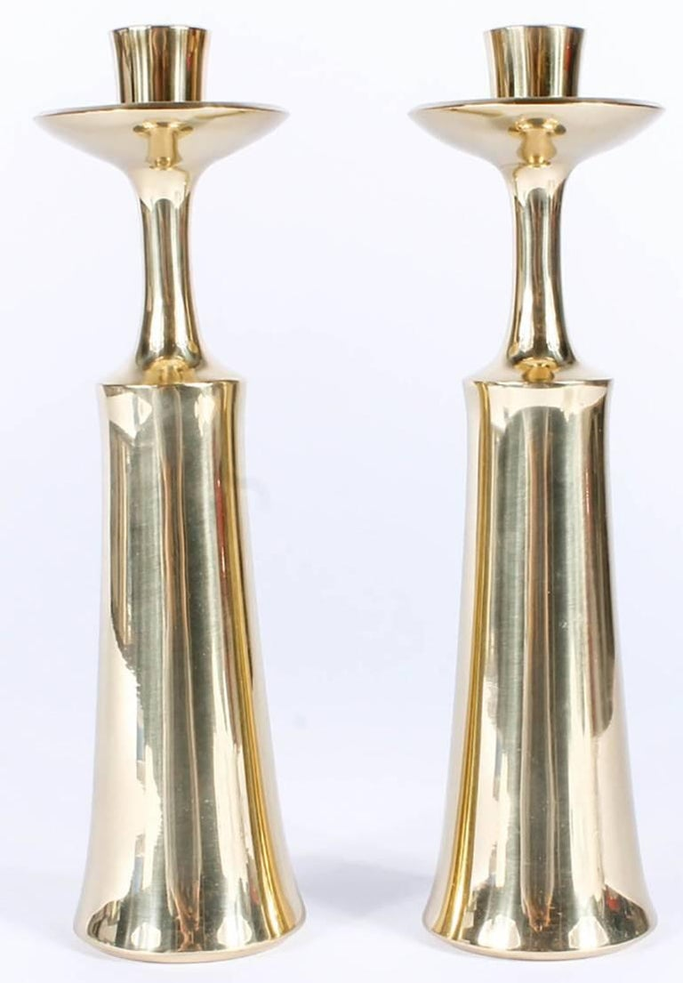 Pair of Dansk Solid Brass Candlesticks by Jens Quistgaard 6