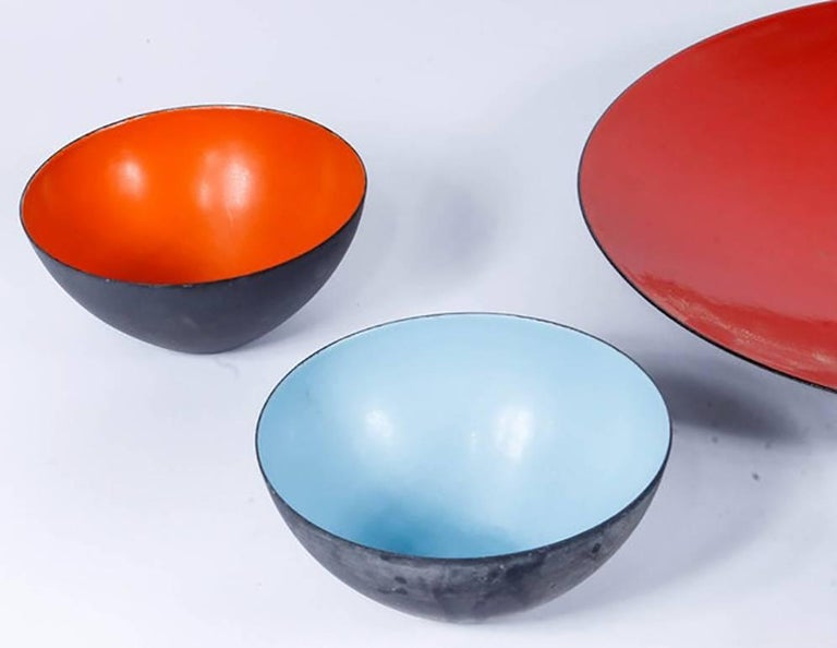 Mid-Century Modern Mid-Century Krenit Bowls and Serving Dish Attributed to Herbert Krenchel For Sale